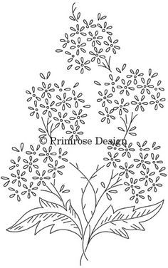 Free Printable Designs | This lovely vintage embroidery pattern of ...