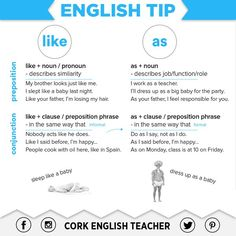 'LIKE' & 'AS' #learnenglish @AntriParto