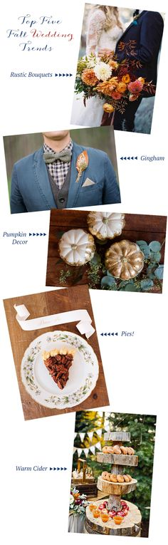 Top Five Fall Wedding Trends | Coastal Bride