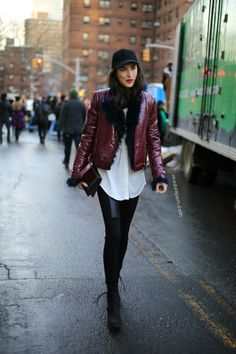 Jacquelyn Jablonski spotted in New York over #nyfw wearing Tommy Hilfiger Women's Collection