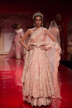 Click to see the full collection.  Indian wedding clothes by Suneet Varma 2014. Indian bridal outfit #shaadibazaar