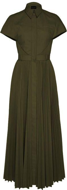 Exclusive Pleated Poplin Shirt Dress by Brandon Maxwell Brandon Maxwell, Poplin Dress, Olive Green, Women Wear, Visit Australia, Shirt Dress, Meghan Markle, October, Shopping