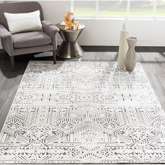 Bungalow Rose Shively Gray Area Rug Rug Size: Rectangle x Indoor Rugs, Outdoor Area Rugs, White Area Rug, Blue Area Rugs, All Modern, Modern Decor, Black White Rug, Contemporary Area Rugs, Modern Area Rugs