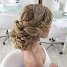 Classy updo wedding hairstyle idea; Featured: Elstile