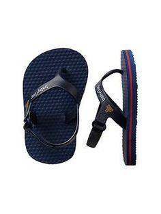 Ankle-strap flip flops (Gap 0-24m)