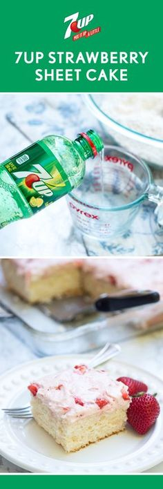 This 7UP® Sheet Cake with Strawberry Buttercream Frosting is sure to go over well this summer. Thanks to the fizzy, fruity pairing, it's not hard to see why all your guests will want a piece of this refreshing sweet treat! Head over to Walmart to find everything you need to whip up this homemade recipe for your friends and family—we think it's the perfect addition to any potluck, party, or picnic!