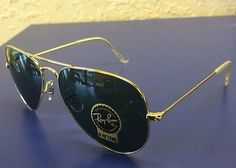 Ray-Ban RB3025 Aviator Classic L0205 Arista Gold G-15 Lenses authentic 58mm