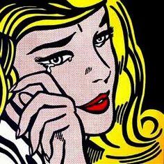 Lichtenstein comic girl