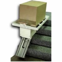 The AmeriGlide AC Cargo Lift is specially designed to be installed on your stairs and safely carry up to 350 pounds of cargo! Call us today to order yours. Stairs Canopy, Garage Stairs, Straight Stairs, Cantilever Stairs, Stair Lift, Building Stairs, Interior Stairs, Room Interior, Interior Design