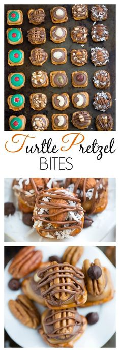 Turtle Pretzel Bites are so easy to make and perfect for your holiday cookie platter.
