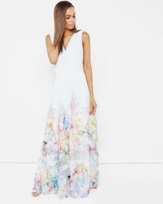 Hanging Gardens maxi dress - Mint | Dresses | Ted Baker UK