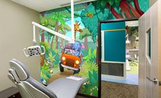 Jungle Hideaway in Themed Dental Office