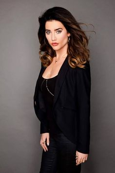 Jacqueline MacInnes Wood Promotional Photo for The Bold and the Beautiful as Steffy Forrester. Beautiful Series, Bold And The Beautiful, Beautiful People, Beautiful Women, Jacqueline Macinnes Wood, Tough Woman, Hair Skin Nails, Hair Color And Cut, Celebs