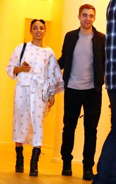 Pin for Later: 17 Times Celebrities Totally Outdressed Their Dates FKA Twigs and Robert Pattinson FKA Twigs's style is always a bit out there, but her laid-back, pyjama-inspired outfit looked especially weird next to Rob's jeans and a t-shirt.