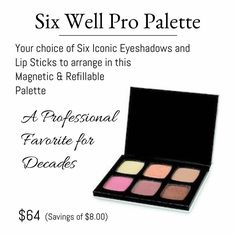 LimeLight by Alcone Six Well Pro Palette is great to store your choice of colors. It's also magnetic for safe keeping! #SixWellProPalette#magnetic #LimeLightbyalconemakeup #biodegradable www.nikkircampbell.com