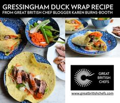 Exquisite duck recipes from the UK's finest chefs including braised duck breast, duck spring rolls, duck ragu, duck carpaccio, duck cassoulet and many Duck Recipes, Wrap Recipes, Braised Duck, Great British Chefs, Spring Rolls, Entrees, Ethnic Recipes
