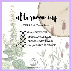 Afternoon Nap dōTERRA diffuser blend!