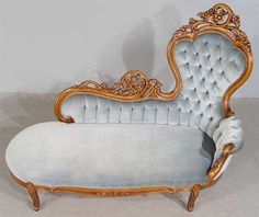 Chaise Lounge Victorian Furniture Vintage Decor Sofa Fainting