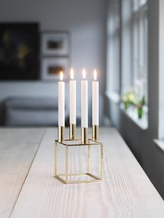 By Lassen Brass Kubus Candle Holder