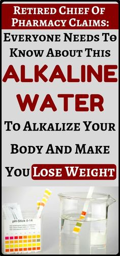 This alkaline water will alkalize your body prevent cancer and other diseases + will make you lose weight - health and fitness...!!!