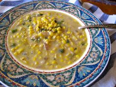 Sweet Corn Poblano Soup