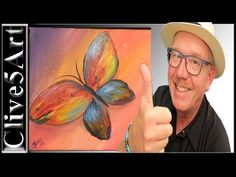 Easy, Butterfly, acrylic painting for beginners, - YouTube