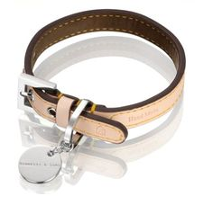 Hennessy Small Leather Dog Collar Natural LV with Chocolate Lining >>> You can get more details by clicking on the image.Note:It is affiliate link to Amazon.