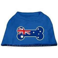 Mirage Pet Products Bone Shaped Australian Flag Screen Print Shirt 3XLarge Blue * Check this awesome product by going to the link at the image.