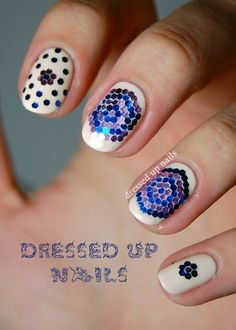 Dressed Up Nails - loose glitter pattern nail art on Lime Crime Milky Ways