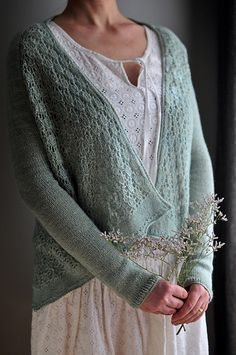da6ccf179f6077 Lace cardigan knitting pattern. Reagan by Isabell Kraemer knit by NaneR  using The Fibre Co