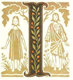 グリム童話:ヘンゼルとグレーテル 装飾文字 Grimm's Fairy Tales:hansel and gretel / Letters