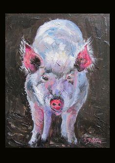 STARING PIG