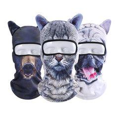 Men Unisex Cycling Bicycle Ski 3D Animal Neck Full Face Mask Hat Cosplay Christmas Party Cap Scarf - Banggood Mobile