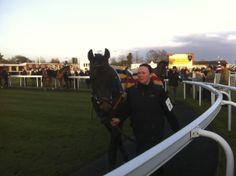 In the paddock at Newbury - Feb 2013