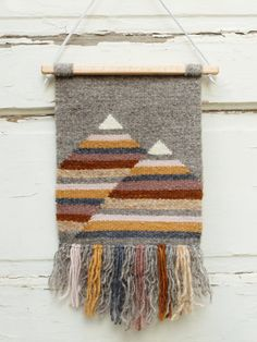 Handwoven Tapestry / Woven Wall Hanging / Weaving by CombedThunder