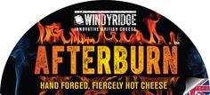 Afterburn™ Cheese Half Moon Label  by WIndyridge Cheese Ltd