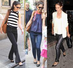 Celebrity Street Style - Katie Holmes Sexes Up Her Wardrobe Post ...