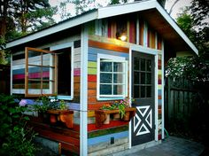 Multi Colored Shed