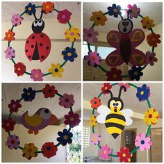 Felt Crafts, Easy Crafts, Diy And Crafts, Crafts For Kids, Arts And Crafts, Paper Crafts, Class Decoration, School Decorations, Mobiles