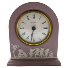 Check out this item at One Kings Lane! Lilac Wedgwood Jasperware Cherub Clock