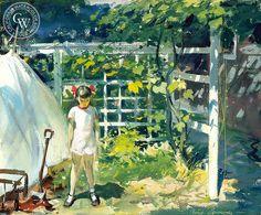 Grape Arbor, (Westport), 1949, California art by Hardie Gramatky. HD giclee art prints for sale at CaliforniaWatercolor.com - original California paintings, & premium giclee prints for sale