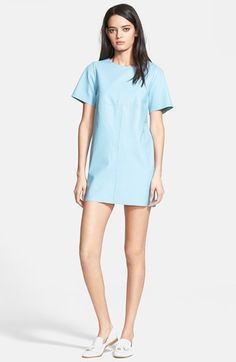VEDA 'Monochrome' Oversized Leather T-Shirt Dress at Nordstrom.com. This roomy, easy-fitting T-shirt dress makes a polished statement in supersoft and beautifully colored leather.