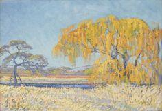 Jacob Hendrik Pierneef (South African, 1886-1957) A wintry pool on the Pienaars River
