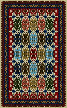 Gelim (19) Palestinian Embroidery, Needlepoint Designs, Afghan Rugs, Prayer Rug, Floral Rug, Miniture Things, Le Point, Cross Stitch Designs, Rugs On Carpet