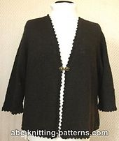 Ravelry: Basic Knitted Cardigan with Crochet Finish pattern by Elaine Phillips