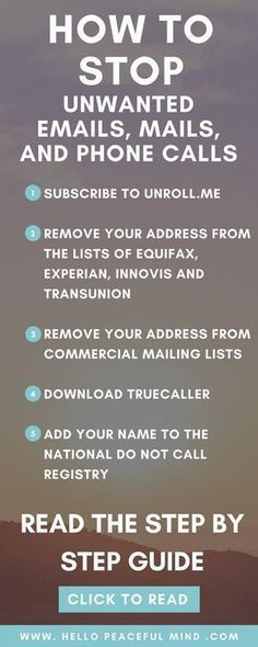 Are you tired of receiving tones of unwanted emails, mails and phone calls? Read this to find to stop this madness and get your time back! Simple Life Hacks, Useful Life Hacks, Daily Hacks, Life Hacks Iphone, Digital Life, 1000 Lifehacks, Stress, Things To Know, Self Improvement