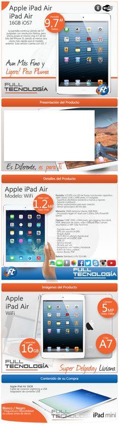 iPad Air 16GB. Cliente Full Tecnología. Elaborado por iGrafi
