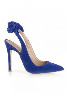 Mavi Süet Stiletto Modeli HD7415