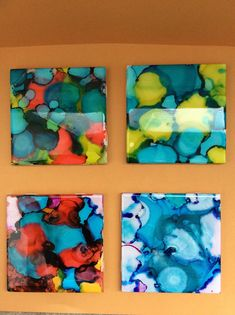 Alcohol Ink Ceramic Resin Coasters