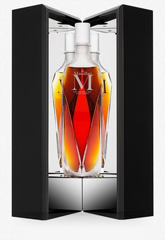 LALIQUE - MACALLAN | The Macallan 'M in Lalique Decanter' whisky from the 1824 Series